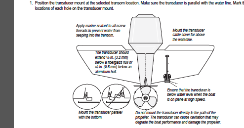 Garmin gpsmap transducer instalation
