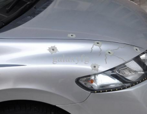 bullets in car