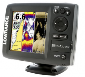Lowrance fishfinder GPS combo